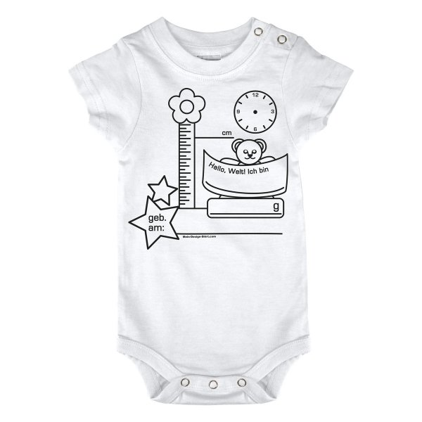 ausmal shirt geburt teddy t shirt. Black Bedroom Furniture Sets. Home Design Ideas