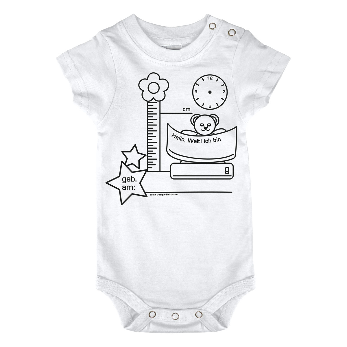 t shirt total f r babys kinder ausmal shirts. Black Bedroom Furniture Sets. Home Design Ideas