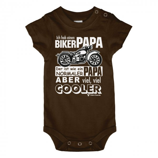 Baby Body Biker Papa T Shirt Total De