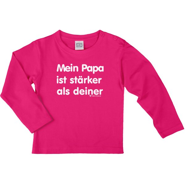 mein papa ist st rker als deiner t shirt. Black Bedroom Furniture Sets. Home Design Ideas